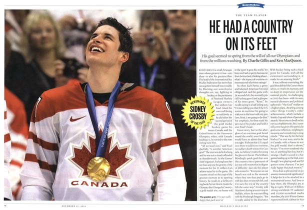 Article Preview: HE HAD A COUNTRY ON ITS FEET, December 2010 | Maclean's