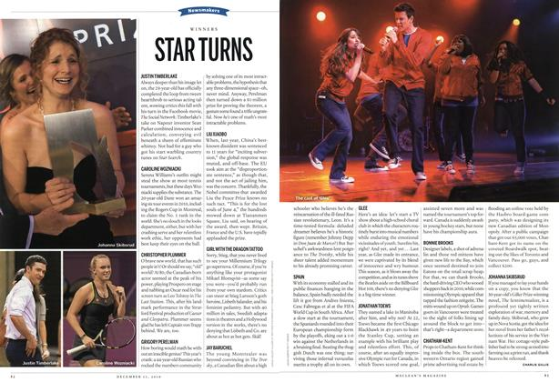 Article Preview: STAR TURNS, December 13th 2010 | Maclean's