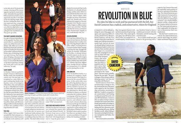 Article Preview: REVOLUTION IN BLUE, December 13th 2010 | Maclean's