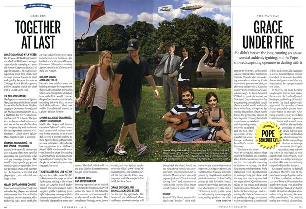 Article Preview: GRACE UNDER FIRE, December 13th 2010 | Maclean's