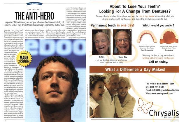Article Preview: THE ANTI-HERO, December 13th 2010 | Maclean's