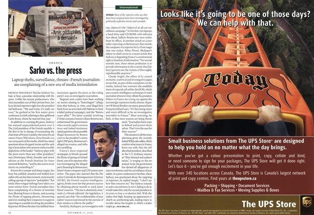 Article Preview: Sarko vs. the press, December 2010 | Maclean's