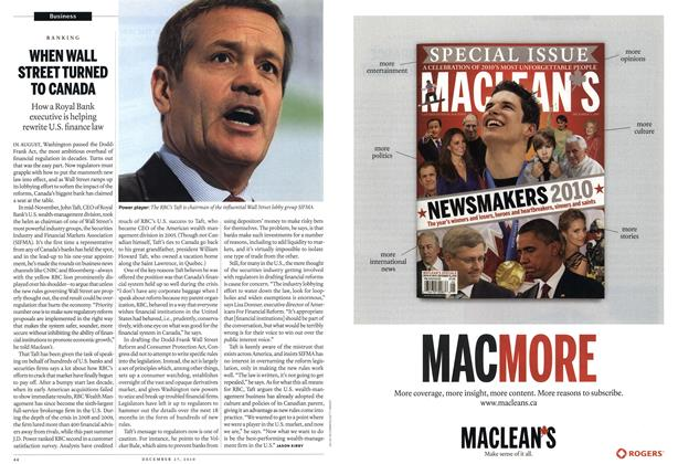 Article Preview: WHEN WALL STREET TURNED TO CANADA, December 2010 | Maclean's