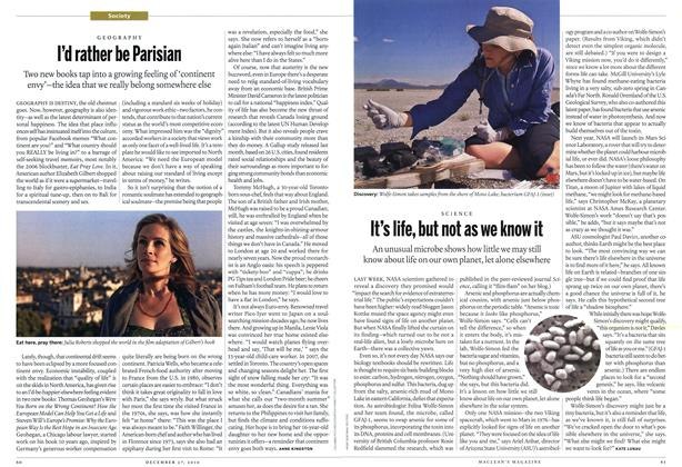 Article Preview: It's life, but not as we know it, December 27th 2010 | Maclean's