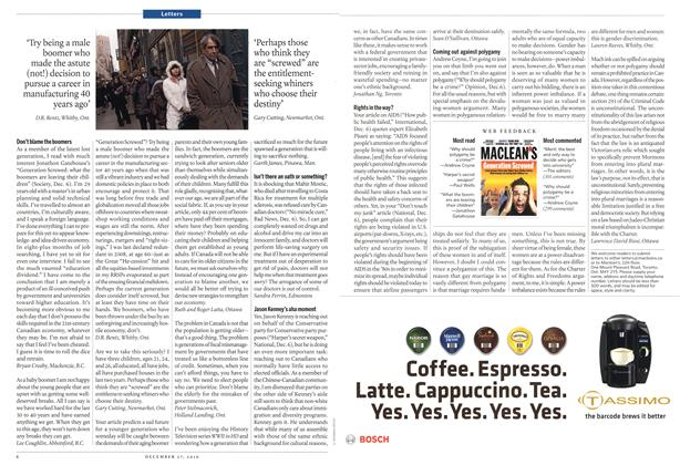 Article Preview: Letters, December 2010 | Maclean's