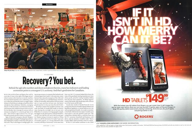 Article Preview: Recovery? You bet., JANUARY 3, 2011 2011 | Maclean's