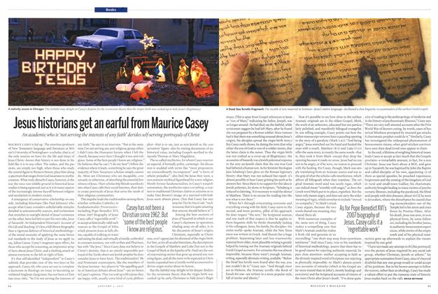 Article Preview: Jesus historians get an earful from Maurice Casey, January 3rd 2011 | Maclean's