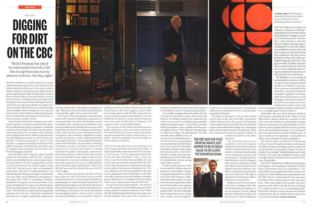 Article Preview: DIGGING FOR DIRT ON THE CBC, January 2011 | Maclean's