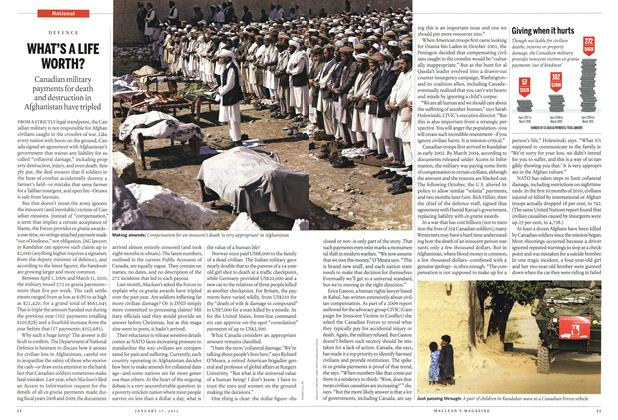 Article Preview: WHAT'S A LIFE WORTH?, January 2011 | Maclean's