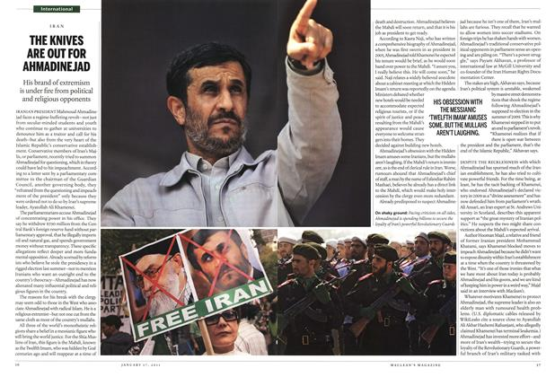 Article Preview: THE KNIVES ARE OUT FOR AHMADINEJAD, January 2011 | Maclean's