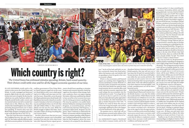 Article Preview: Which country is right?, January 2011 | Maclean's