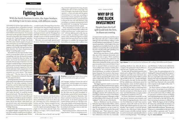 Article Preview: WHY BP IS ONE SLICK INVESTMENT, January 17th 2011 | Maclean's