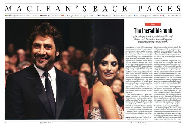 Article Preview: The incredible hunk, January 17th 2011 | Maclean's