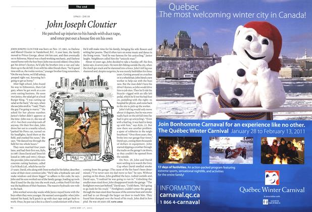 Article Preview: John Joseph Cloutier, January 17th 2011 | Maclean's