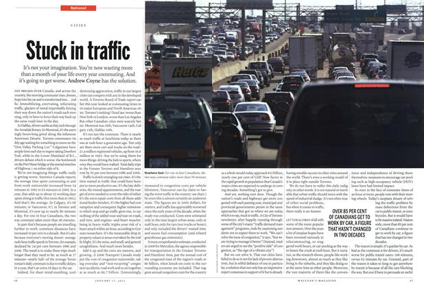 Article Preview: Stuck in traffic, January 2011 | Maclean's