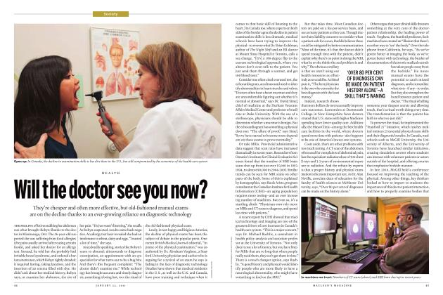Article Preview: Will the doctor see you now?, JANUARY 24th 2011 | Maclean's