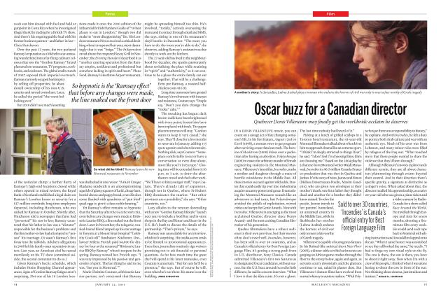 Article Preview: Oscar buzz for a Canadian director, JANUARY 24th 2011 | Maclean's