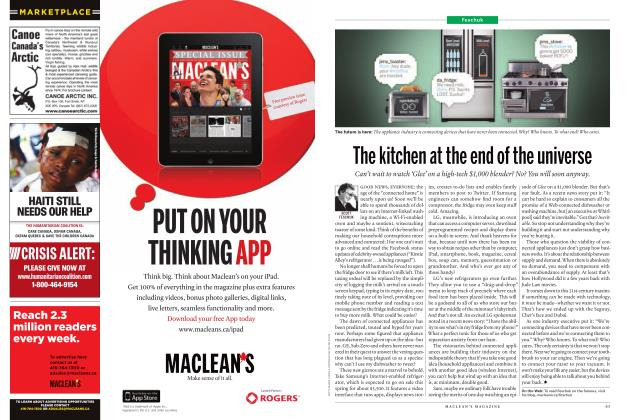 Article Preview: The kitchen at the end of the universe, JANUARY 24th 2011 | Maclean's