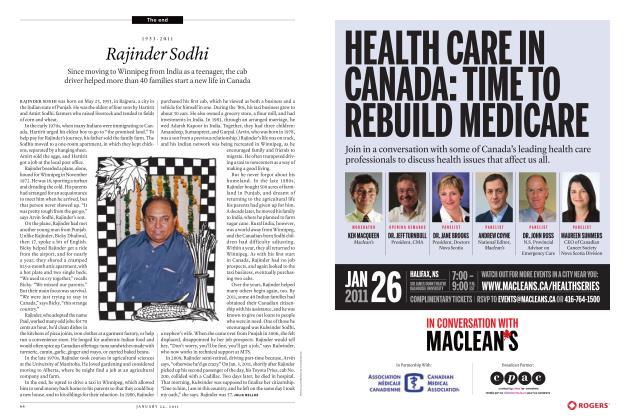 Article Preview: 1953-2011 Rajinder Sodhi, JANUARY 24th 2011   Maclean's