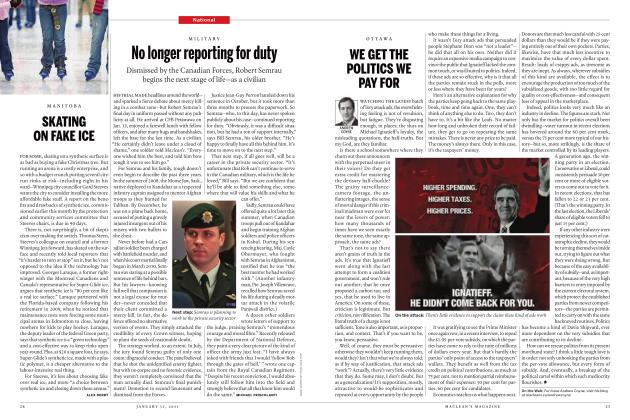 Article Preview: No longer reporting for duty, JANUARY 31st 2011 | Maclean's