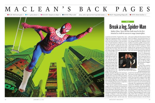 Article Preview: Break a leg, Spider-Man, JANUARY 31st 2011 | Maclean's