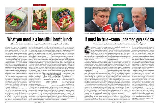 Article Preview: What you need is a beautiful bento lunch, JANUARY 31, 2011 2011 | Maclean's