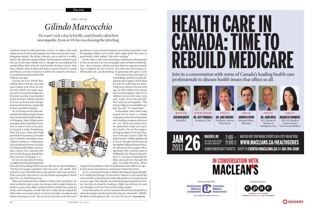 Article Preview: 1909-2010 Gilindo Marcocchio, JANUARY 31, 2011 2011 | Maclean's