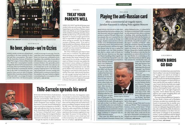 Article Preview: Playing the anti-Russian card, February 2011 | Maclean's
