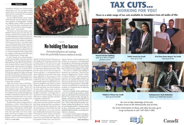 Article Preview: No holding the bacon, February 2011 | Maclean's