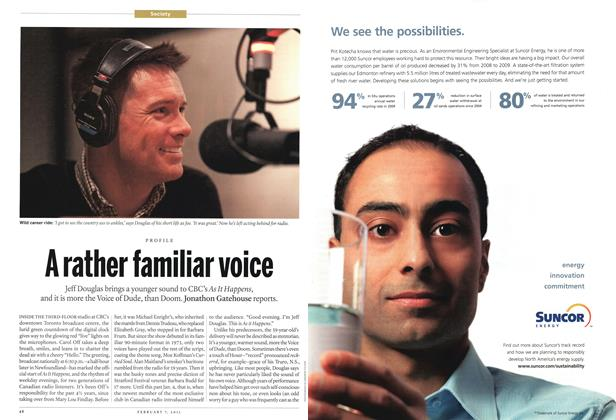 Article Preview: A rather familiar voice, February 2011 | Maclean's