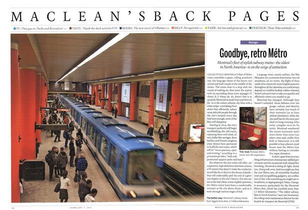 Article Preview: Goodbye, retro Métro, February 2011 | Maclean's