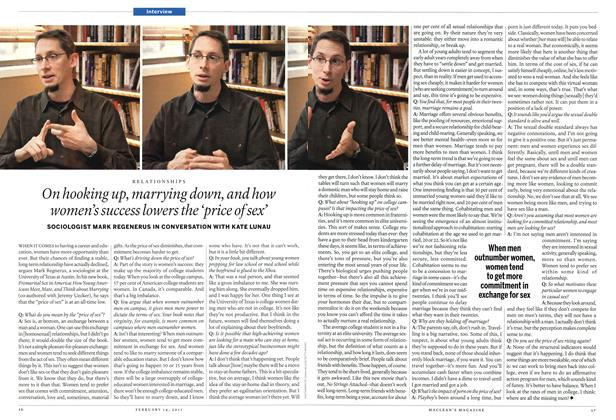 Article Preview: On hooking up, marrying down, and how women's success lowers the 'price of sex', February 2011 | Maclean's