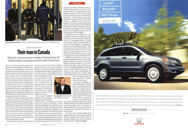 Article Preview: Their man in Canada, February 2011 | Maclean's