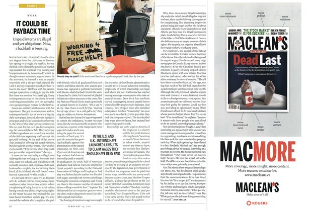 Article Preview: IT COULD BE PAYBACK TIME, February 2011 | Maclean's