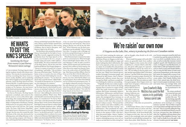 Article Preview: HE WANTS TO CU 'THE KING'S SPEECH', February 2011 | Maclean's