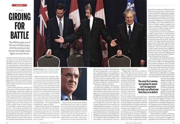 Article Preview: GIRDING FOR BATTLE, February 2011 | Maclean's