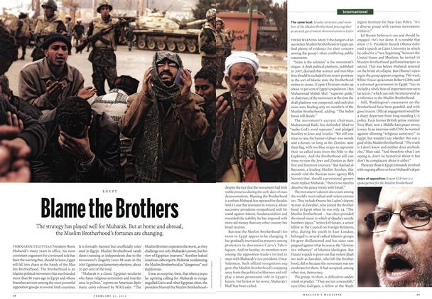 Article Preview: Blame the Brothers, February 2011 | Maclean's