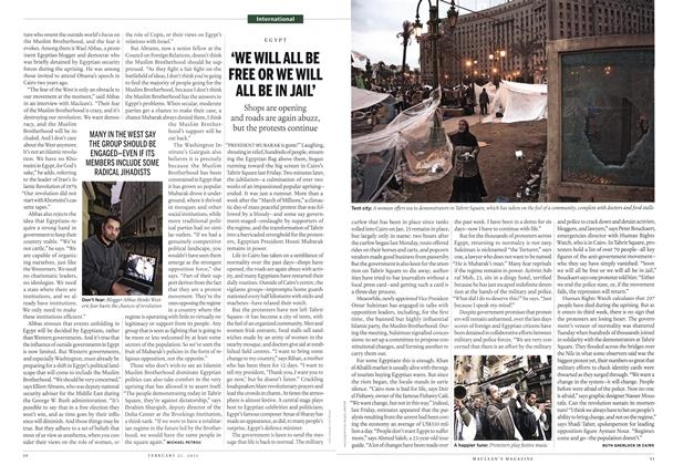 Article Preview: 'WE WILL ALL BE FREE OR WE WILL ALL BE IN JAIL', February 2011 | Maclean's