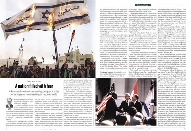 Article Preview: A nation filled with fear, February 2011 | Maclean's
