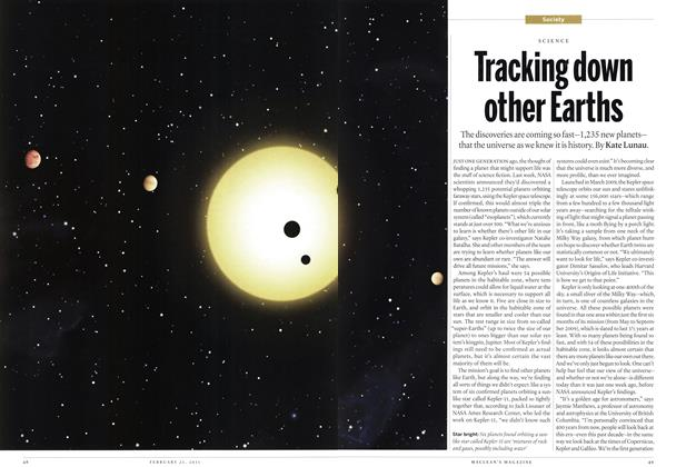 Article Preview: Tracking down other Earths, February 2011 | Maclean's