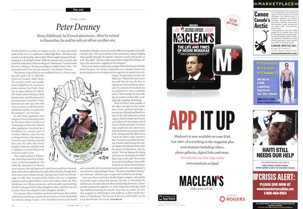 Article Preview: Peter Denney, February 2011 | Maclean's