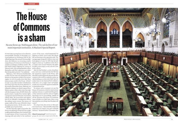 Article Preview: The House of Commons is a sham, February 2011 | Maclean's