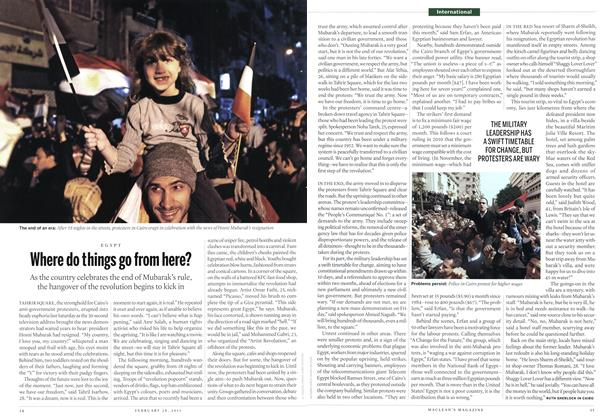 Article Preview: Where do things go from here?, February 2011 | Maclean's