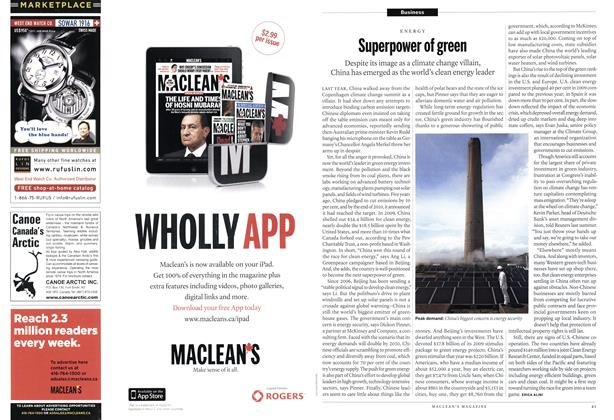 Article Preview: Superpower of green, February 2011   Maclean's