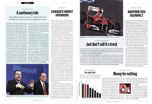 Article Preview: Money for nothing, February 2011 | Maclean's