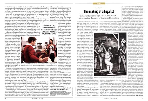 Article Preview: The making of a Loyalist, February 2011 | Maclean's