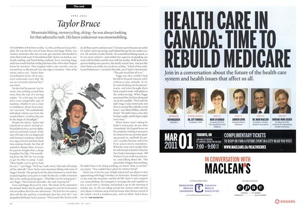 Article Preview: Taylor Bruce, February 2011 | Maclean's