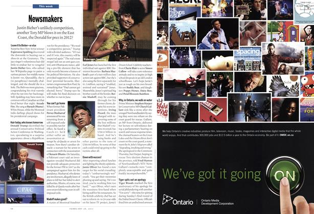 Article Preview: Newsmakers, February 2011 | Maclean's