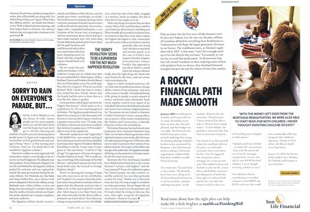 Article Preview: SORRY TO RAIN ON EVERYONE'S PARADE, BUT..., February 2011   Maclean's
