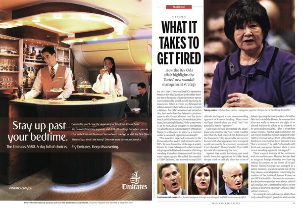 Article Preview: WHAT IT TAKES TO GET FIRED, MARCH 7th 2011 | Maclean's
